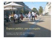 Espaces publics: une reconquête - Chôros - EPFL