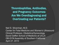 Thrombophilias, Antibodies, and Pregnancy ... - Cmebyplaza.com