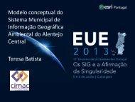 O SMIGA- AC - Sistema Municipal de Informação ... - Esri Portugal