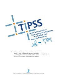 Tools for Innovative Product-Service-Systems for Global ... - FP7 TIPSS