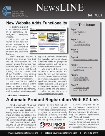 Automate Product Registration With EZ-Link - c-Systems Software, Inc.
