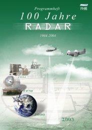 frequenzphysik und Radartechnik (FHR) - 100 Jahre Radar