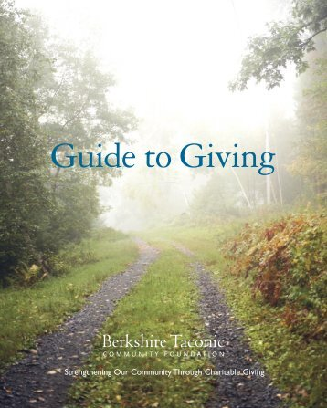 Guide to Giving - Berkshire Taconic Community Foundation