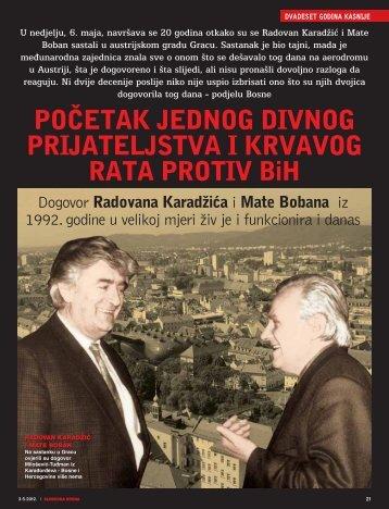 PO^ETAK JEDNOG DIVNOG PRIJATELJSTVA I KRVAVOG RATA ...
