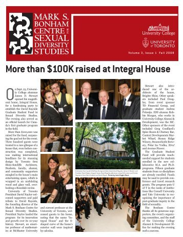 More than $100K raised at Integral House - University College