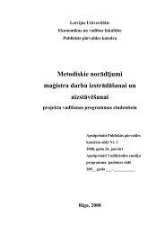 Metodiskie norādījumi maģistra darba izstrādāšanai un aizstāvēšanai