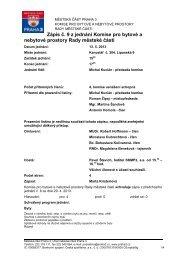 Zápis č. 9 z jednání Komise pro bytové a nebytové ... - Praha 3