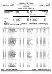 OERLIKON - FIS - Rennen Schweizermeisterschaft - Herren