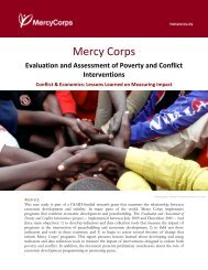 Conflict & Economics: Lessons Learned on Measuring Impact - Ning