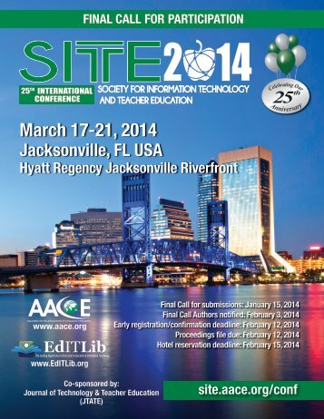 March 17-21, 2014 - Society for Information Technology & Teacher ...
