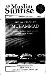 2002, IV - The Muslim Sunrise