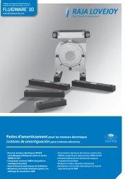 Listónes de amortiguación para motores eléctricos - RAJA-Lovejoy