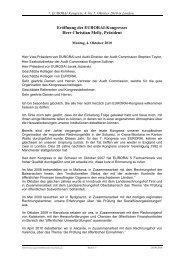 Eröffnung des EURORAI-Kongresses Herr Christian ... - Eurorai.org