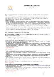 Séance des 14 /15 juin 2011 - Commission des Titres d'Ingénieur