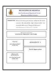 Elenco prezzi - Comune di Messina