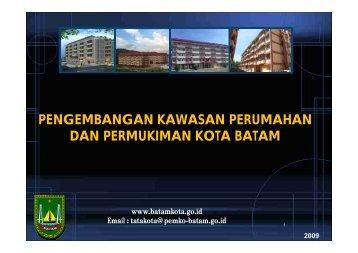 pengembangan kawasan perumahan dan permukiman kota batam