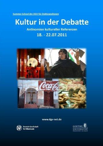 DGV-Summer-School 2011 - Deutsche Gesellschaft für Völkerkunde