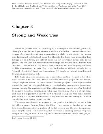 Chapter 3 Strong and Weak Ties