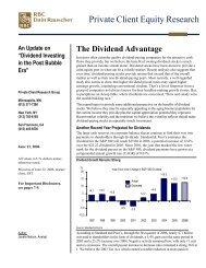 The Dividend Advantage - Uhlmann Price Securities