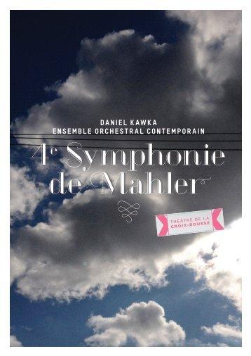 4e Symphonie de Mahler - eoc