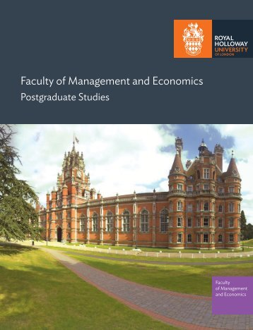 Department of Economics - Royal Holloway, University of London
