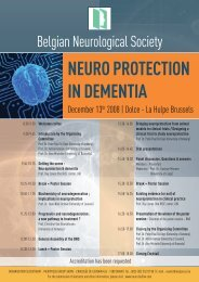NEURO PROTECTION IN DEMENTIA - Neuro.be