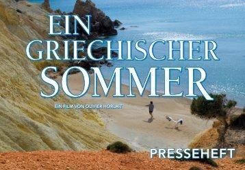 EIN GRIECHISCHER SOMMER Presseheft - Thimfilm