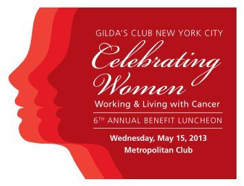 Luncheon Journal - Gilda's Club New York City