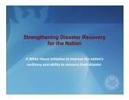 Strengthening Disaster Recovery for the Nation for the Nation