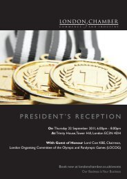 president's reception - London Chamber of Commerce and Industry