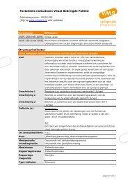 Factsheets indicatoren Vitaal Bedreigde Patiënt ... - VMS
