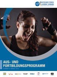 Ausbildungsprogramm - Deutscher Fitness und Aerobic Verband e.V.