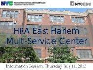 Information Session Presentation - NYCEDC