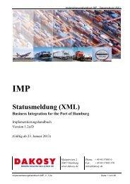 IMP Statusmeldung (XML) - DAKOSY Datenkommunikationssystem ...