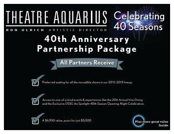 40th Anniversary Partnership Package - Theatre Aquarius