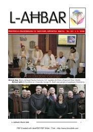ara paġna 2 - Franciscan Province – MALTA