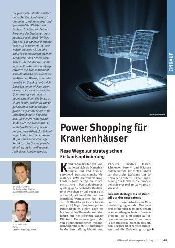 Power Shopping für Krankenhäuser - Lischke Consulting GmbH