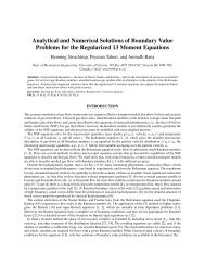 Analytical and Numerical Solutions of Boundary Value Problems for ...