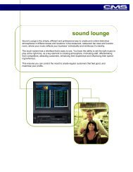 Sound Lounge Available Upgrades - Computer Music Systems