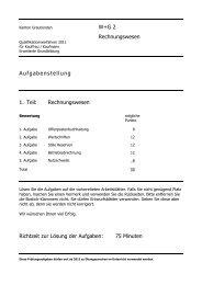 2011 E RW Aufg - Wirtschaftsschule KV Chur