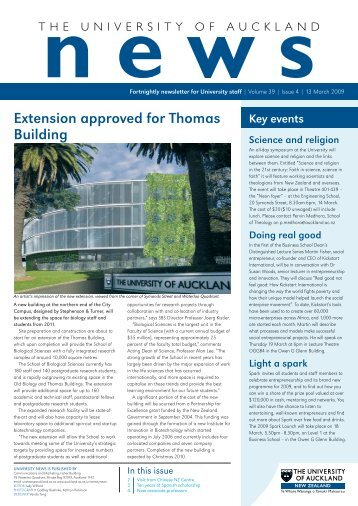Issue 4: 13 March 2009 - The University of Auckland