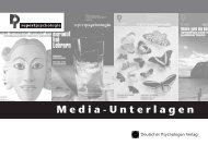 Mediadaten 2007 - Deutscher Psychologen Verlag GmbH