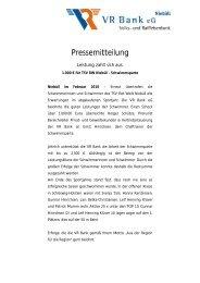 Sponsoring für TSV RW Niebüll - Schwimmsparte - VR Bank eG ...