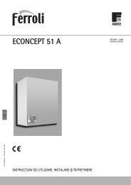 Manual utilizare centrala termica Ferroli Econcept 51A - Centrale ...