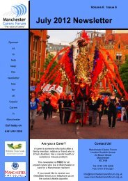 July 2012 Newsletter - Manchester Carers Forum
