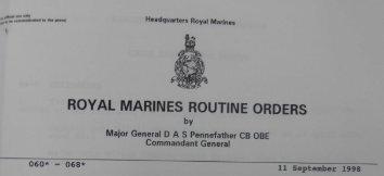 RMRO 66 Royal Marines Aircrewman Branch (RMAC) - RM badges