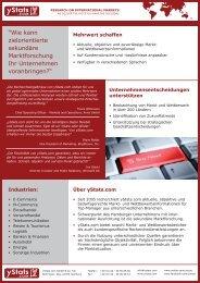 """""""Wie kann zielorientierte sekundäre Marktforschung Ihr ... - yStats.com"""