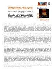 16h00 Conférence à deux voix par Pascal Decroupet et ... - Cirm