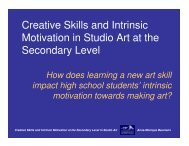 Creative Skills and Intrinsic Motivation in Studio Art at the ... - NCUR 20