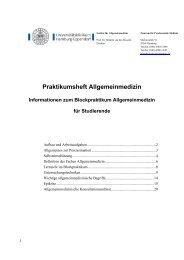 Praktikumsheft Allgemeinmedizin - Universitätsklinikum Hamburg ...